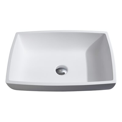 Tahoe Stone Rectangular Vessel Bathroom Sink