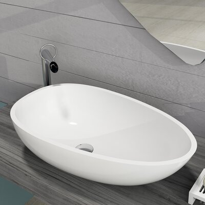Diamond Stone Oval Vessel Bathroom Sink