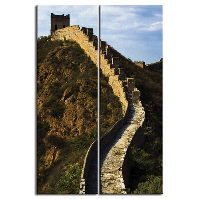 'China Great Wall Scenic' Photographic Print Multi-Piece Image on Canvas DMCNV0030