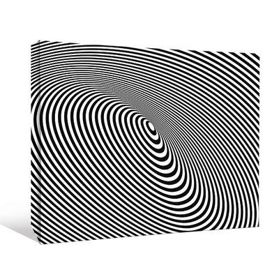 'Optical Illusion Black Hole Lines' Graphic Art Print LCNV2439