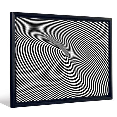 'Optical Illusion Black Hole Lines' Graphic Art Print FMCNV2439
