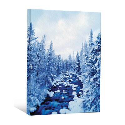 'Scenic Winter Wonderland Snow Scape Trees' Graphic Art Print CNV0036