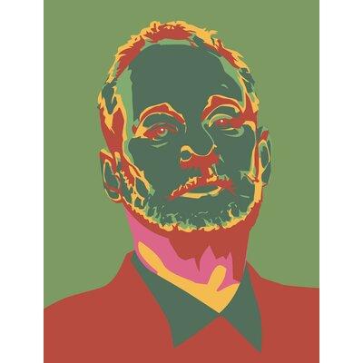 'Bill Murray Four Warhol Green Chive' Graphic Art Print PMUR2242