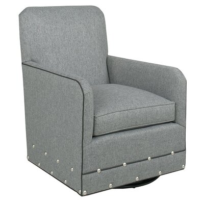 Diehl Swivel Armchair Upholstery: Fabric - Foundation Old Gold