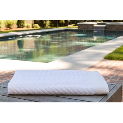 Chevron Jacquard Beach Towel Color: Sandstone
