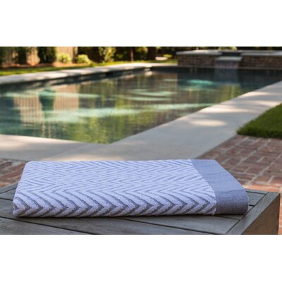 Chevron Jacquard Beach Towel Color: Gray