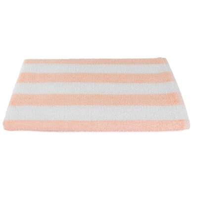 Rectangle Stripe Beach Towel Color: Peach