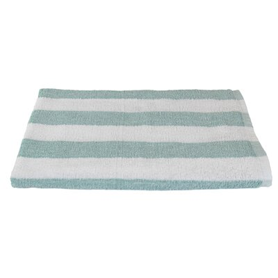 Rectangle Stripe Beach Towel Color: Seafoam