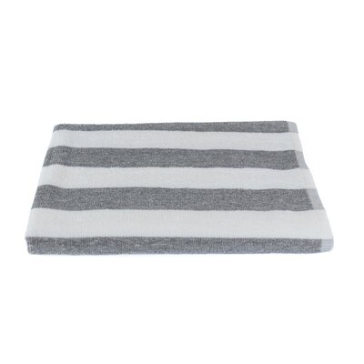 Stripe Beach Towel Color: Gray