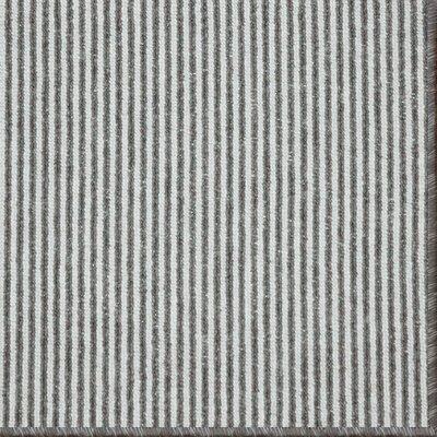 Meredith Charcoal Stripe Area Rug Rug Size: 5 x 8