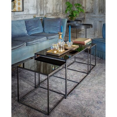 Mirror Rectangle 3 Piece Coffee Table Set TGN-020744