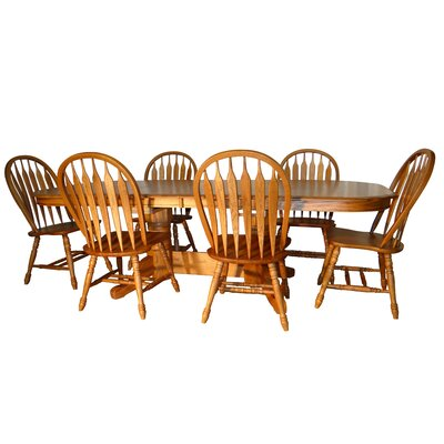 Aldwin 7 Piece Traditional Dining Set