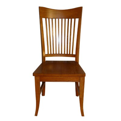 Tyrell Curved Spindle Back Solid Wood Dining Chair Color: Golden