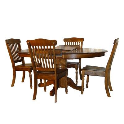 Rivoli Vintage Oak 5 Piece Extendable Dining Set