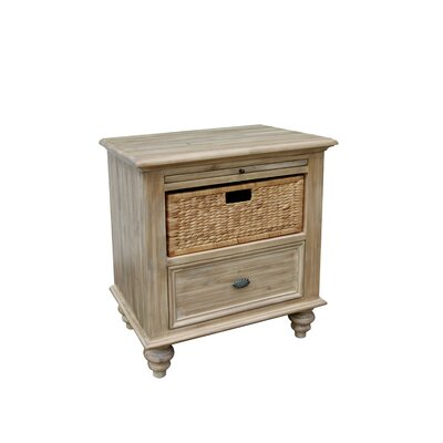 Nyi Basket 1 Drawer Nightstand