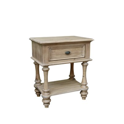 Nyi Shelf 1 Drawer Nightstand