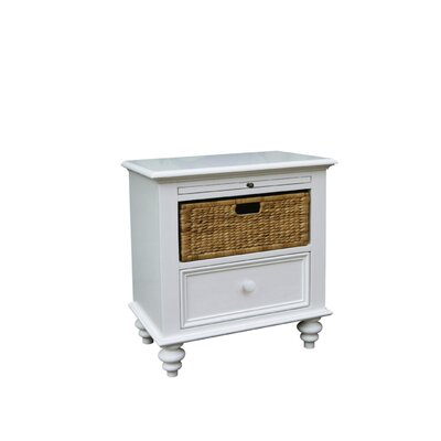 Emelia Basket 1 Drawer Nightstand