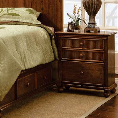 Deke 3 Drawer Nightstand