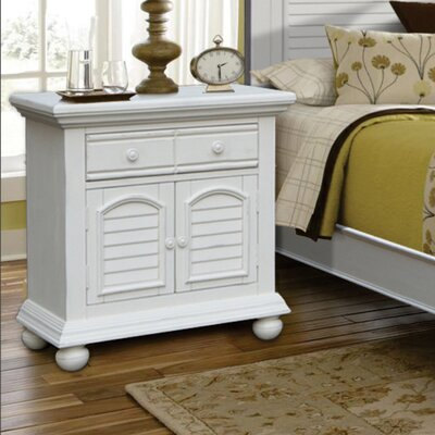 Laguna Large Door 2 Drawer Nightstand