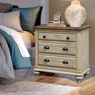 Wilfred 3 Drawer Nightstand