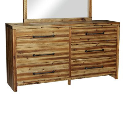 Camilo 6 Drawer Dresser Color: Durango Wheat