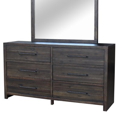Camilo 6 Drawer Dresser Color: Aged Brandy