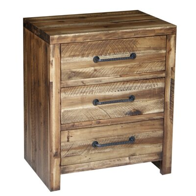 Camilo 3 Drawer Nightstand