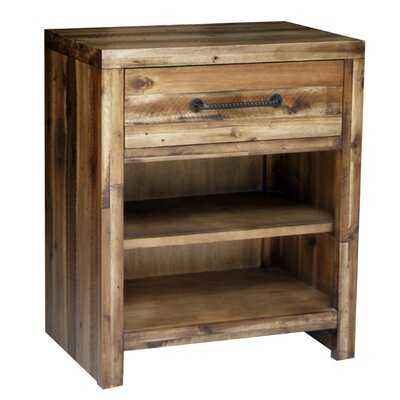 Camilo 1 Drawer Nightstand Color: Durango Wheat