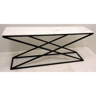 Raymond Iron Marble Top Console Table
