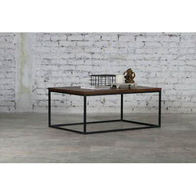 Clarie Iron and Wood Coffee Table