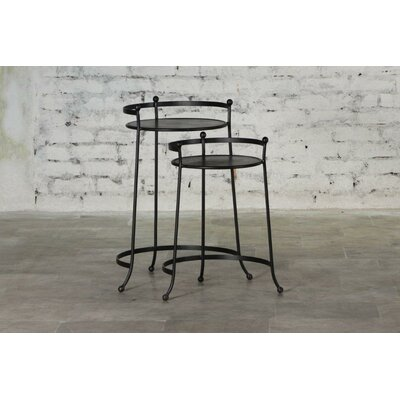 Cadney Iron 2 Piece Nesting Tables