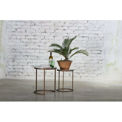 Regenia Marble Top 2 Piece Nesting Tables