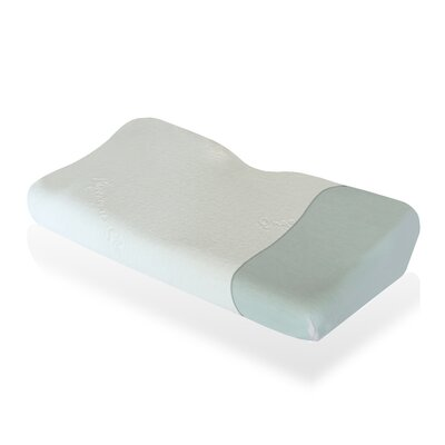 Contoured Wave Botanic Origin Memory Foam Queen Pillow