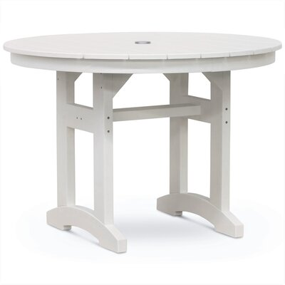 Paulsboro Round Dining Table Color: White Driftwood