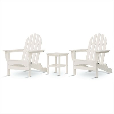 Paterson Adirondack 3 Piece Conversation Set Frame Finish: White