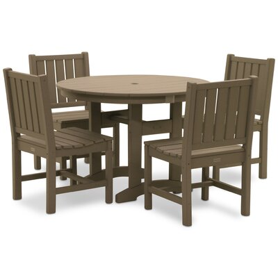 Osborn 5 Piece Dining Set Color: Weathered Wood