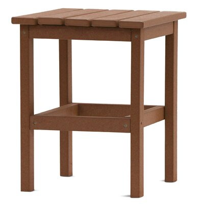 Parkside Square Side Table Color: Teak