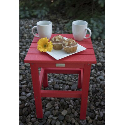 Parkside Square Side Table Color: Bright Red