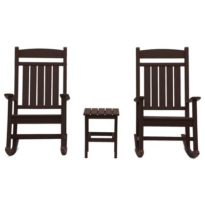 Vikram Classic Rocker 3 Piece Conversation Set Frame Finish: Chocolate