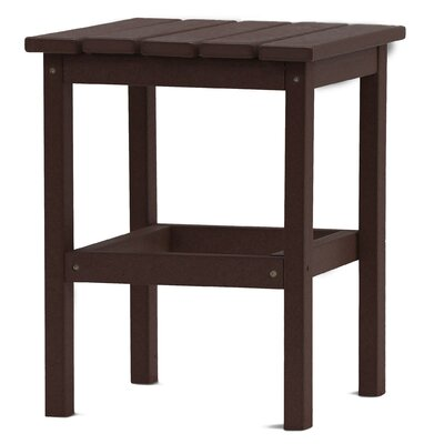 Parkside Square Side Table Color: Chocolate