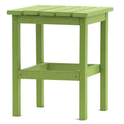 Parkside Square Side Table Color: Lime Green
