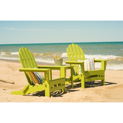 Paterson Adirondack 3 Piece Conversation Set Frame Finish: Lime Green