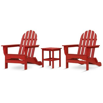 Paterson Adirondack 3 Piece Conversation Set Frame Finish: Bright Red