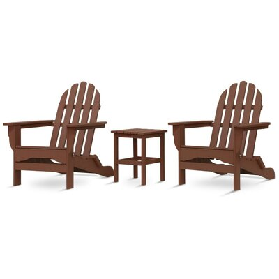 Paterson Adirondack 3 Piece Conversation Set Frame Finish: Teak
