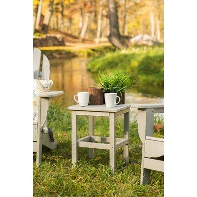 Parkside Square Side Table Color: Light Gray