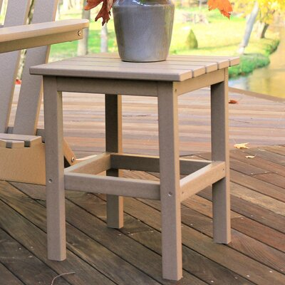 Parkside Square Side Table Color: Weathered Wood
