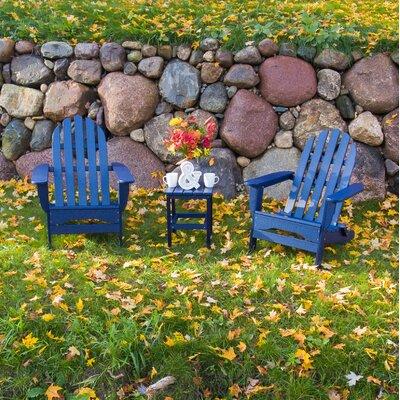 Paterson Adirondack 3 Piece Conversation Set Frame Finish: Royal Blue