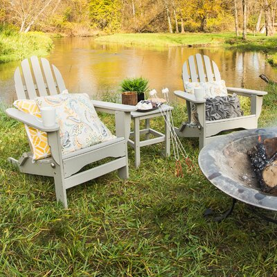 Paterson Adirondack 3 Piece Conversation Set Frame Finish: Light Gray