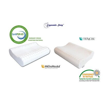 Ventilated Contour Medium Firm Massage Memory Foam Standard Pillow