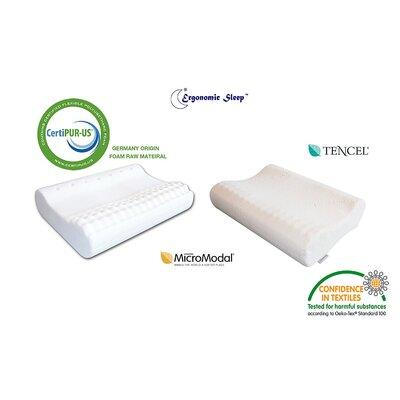 Ventilated Contour Wave Medium Comfort Firm Massage Memory Foam Standard Pillow